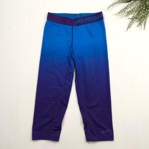 Nike Pro Combat | Blue Purple Dri-Fit Capri Pants